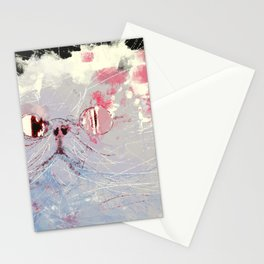 Schrödinger's cat thought experiment digital illustration Stationery Cards