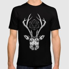 Stag Black MEDIUM Mens Fitted Tee