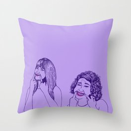 Don't Tell Us To Smile // Broad City Throw Pillow