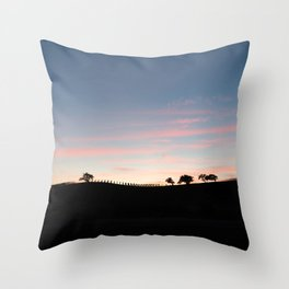 wine country sunset Throw Pillow