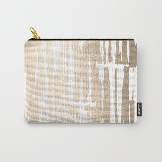 White Gold Sands Bamboo Stripes Carry-All Pouch