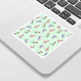 Holiday Alpacas Sticker