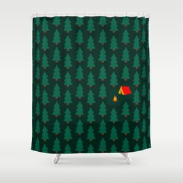 Camping in the Woods Shower Curtain