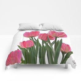 The Joy of Tulips Comforters