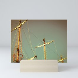 Sailing Vintage Boat in Polanf Mini Art Print