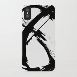 Brushstroke 7: a minimal, abstract, black and white piece iPhone Case