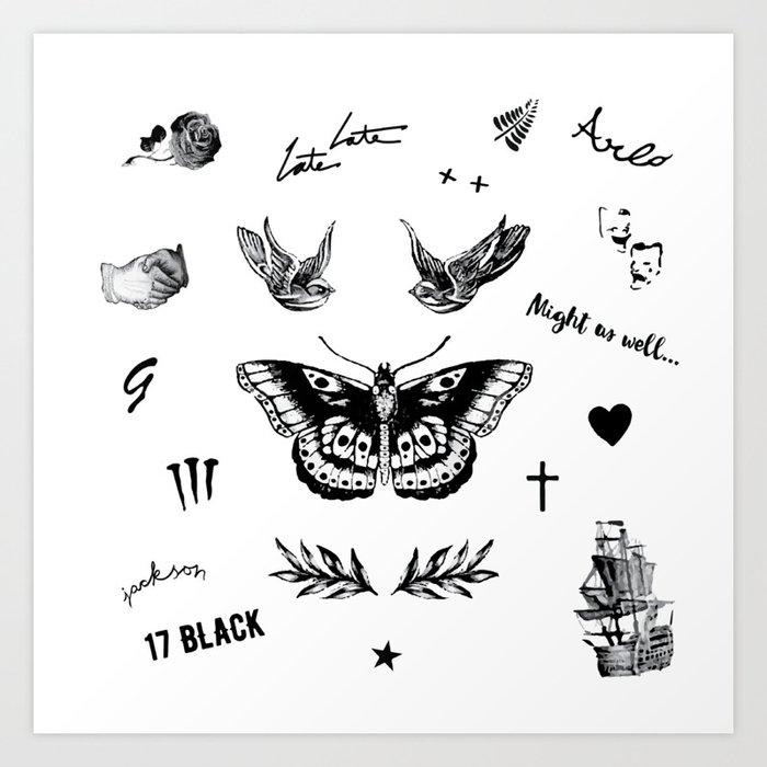 Harry's Tattoos Two Kunstdrucke