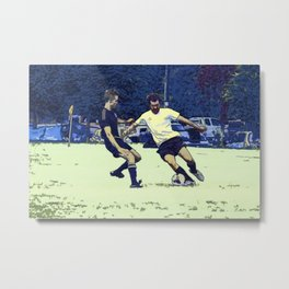 The Challenge - Soccer Players Metal Print