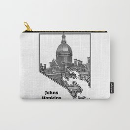 Hopkins White Carry-All Pouch