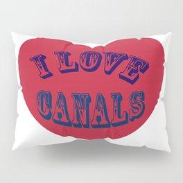 I love canals heart Pillow Sham