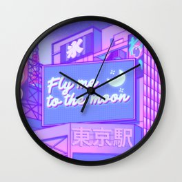 Moon City Wall Clock