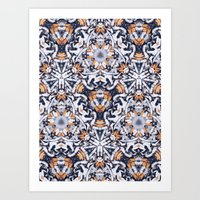 cigarettes Art Prints featuring cigarettes pattern by Sushibird