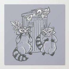 Fancy Raccoons Canvas Print