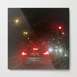 Rainy Lights Metal Print