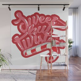 Sweet but twisted candy cane Wall Mural