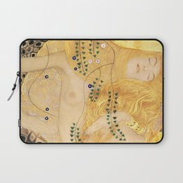 Water Serpents - Gustav Klimt Laptop Sleeve
