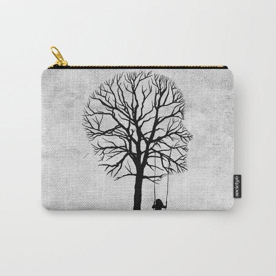 if my memory serves me right (black and white) Carry-All Pouch