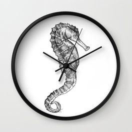Hippocampus kuda (Common Seahorse) Wall Clock