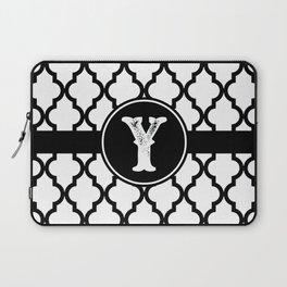 Black Monogram: Letter Y Laptop Sleeve