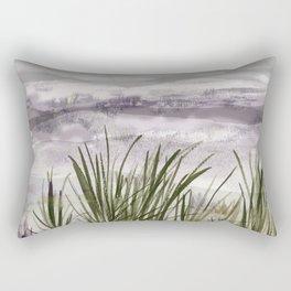 summer storm sea shore Rectangular Pillow