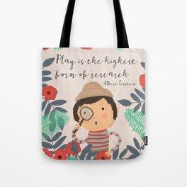 Play Einstein Tote Bag
