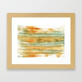 Vegas gold abstract watercolor Framed Art Print