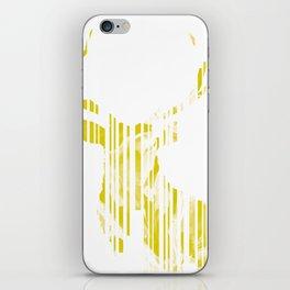 Geometric Yellow Stag iPhone Skin