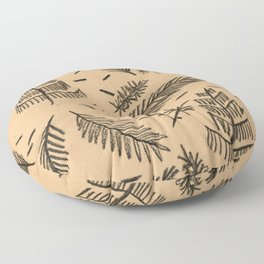 Kraft Paper Pine Floor Pillow