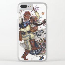 Magnus and Julia Burnsides Clear iPhone Case