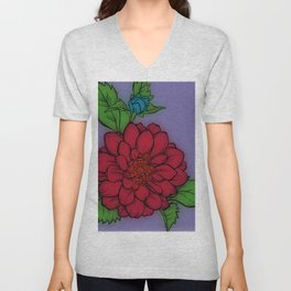 Fun With Coloring Flower Unisex V-Neck