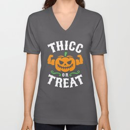 Thicc Or Treat Unisex V-Neck