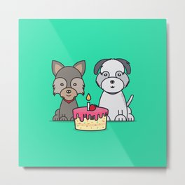 Momo & Mochi Birthday Metal Print