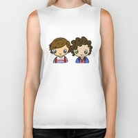 larry stylinson Biker Tanks featuring What Makes Larry Beautiful by clevernessofyou