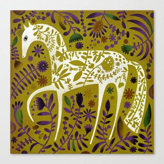 FLOWER HORSE Canvas Print