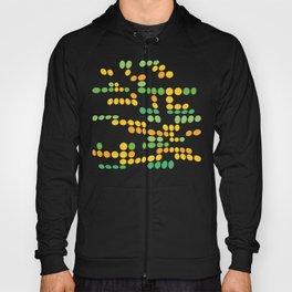Dottywave - Green Yellow wave dots pattern Hoody
