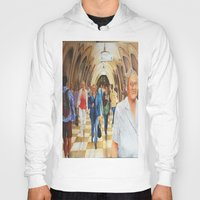 moscow Hoodies featuring Moscow Metro by Eli Gross Art