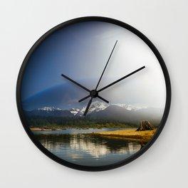 Mount Shuksan over Lake Baker Wall Clock