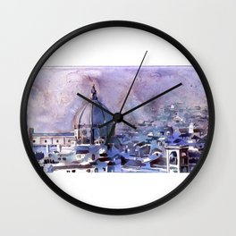 Florence from the Palazzo di Michelangelo- Florenc Wall Clock