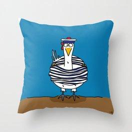 Eglantine la poule (the hen) dressed up as a seaman Throw Pillow
