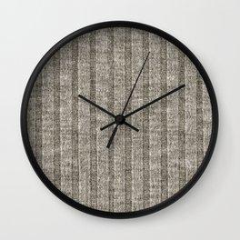 Soft Brown Jersey Knit Pattern Wall Clock