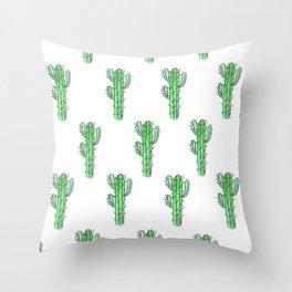 Saguaro Love II PATTERN Throw Pillow