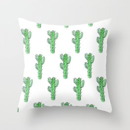 Saguaro Love II PATTERN Throw Pillow