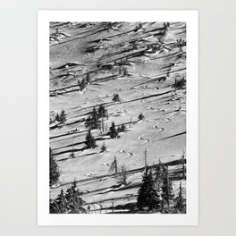 Snowy winter in the mountains Art Print