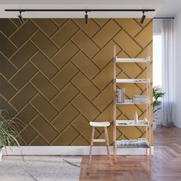 Herringbone Gradient Gold Wall Mural