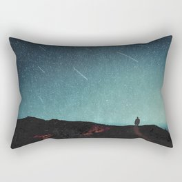 night of falling stars Rectangular Pillow