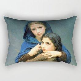 "William-Adolphe Bouguereau ""L'Orage (The_Storm)"" Rectangular Pillow"