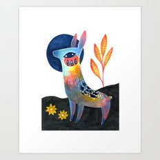 Meadow Donkey Art Print