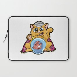 FORTUNE TELLER CAT Fish Bowl Glass clairvoyant Laptop Sleeve