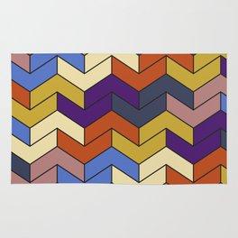 Geometric Chevrons Rug