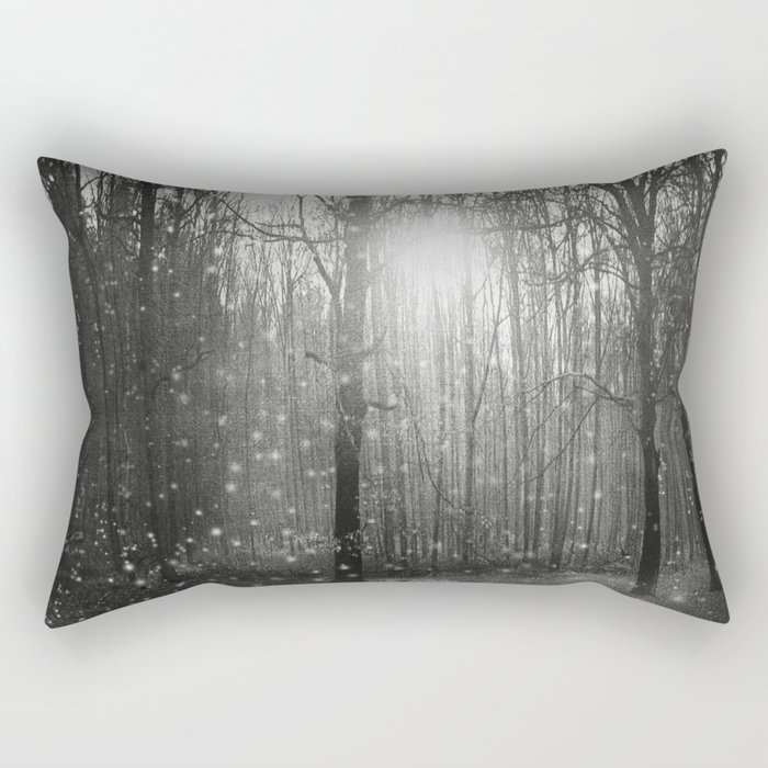 Black and White - In seed time learn, in harvest teach, in winter enjoy Rectangular Pillow